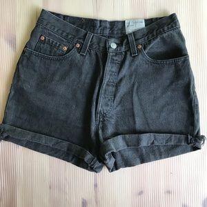 Vintage Levi's 501 High Waisted Denim Shorts sz 28